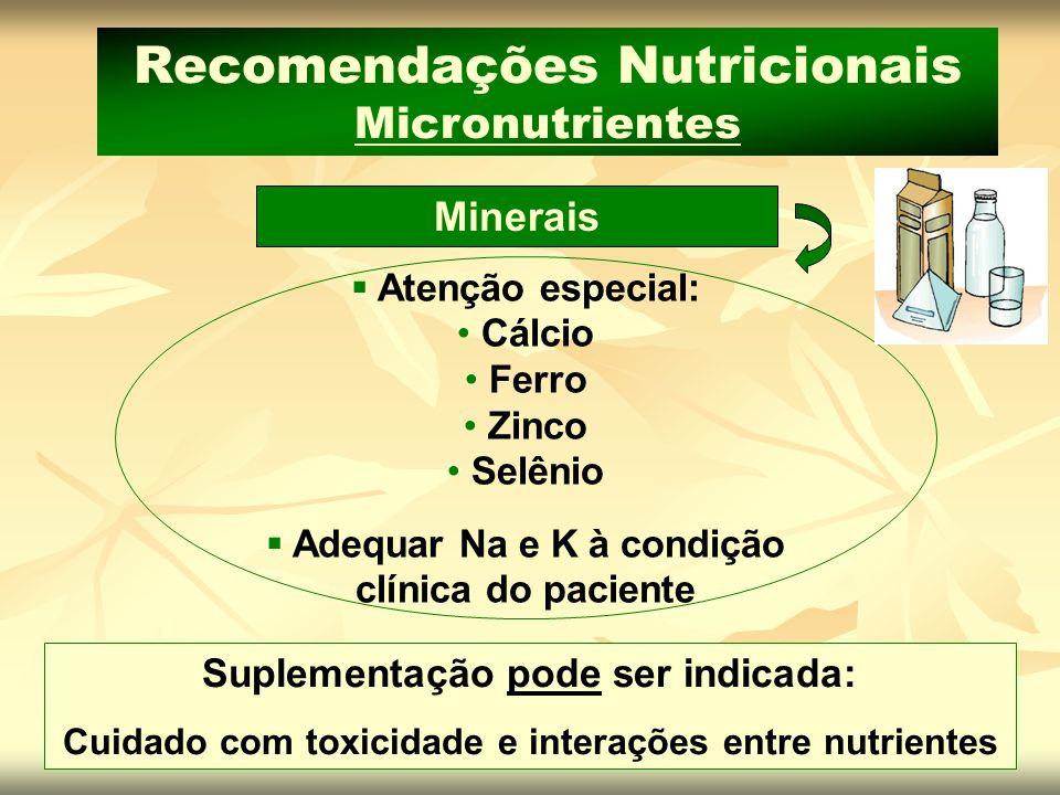 Recomendações Nutricionais Micronutrientes