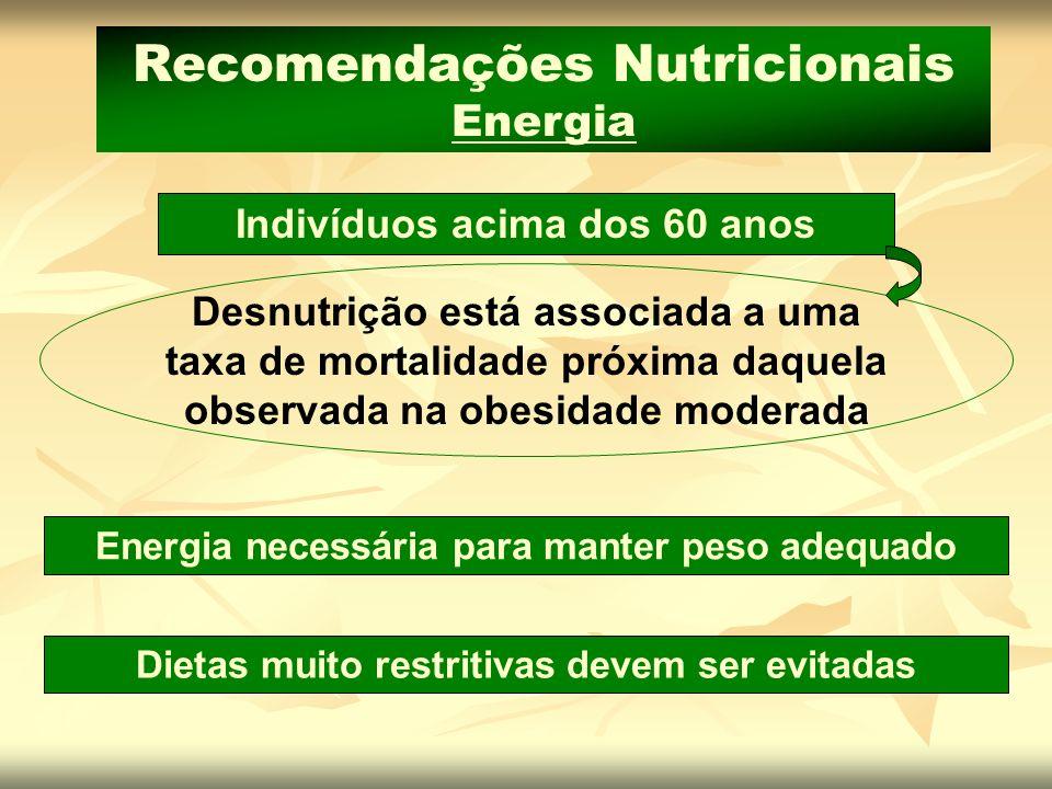 Recomendações Nutricionais Energia