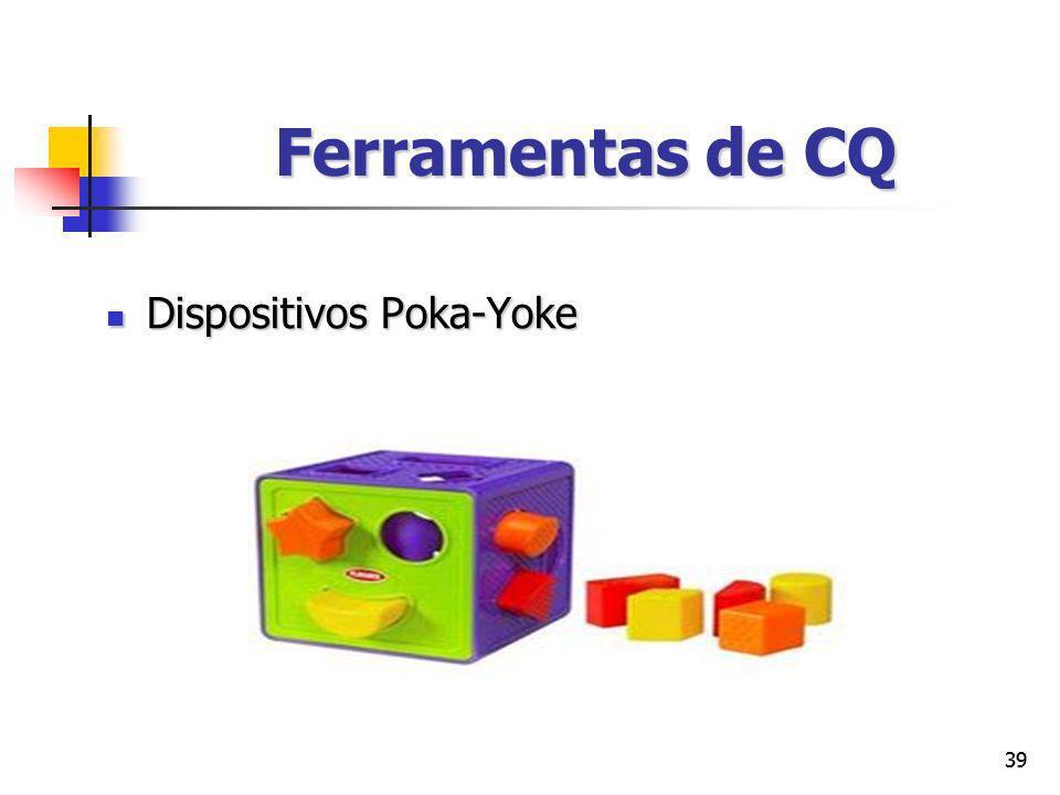 Ferramentas de CQ Dispositivos Poka-Yoke 39 39