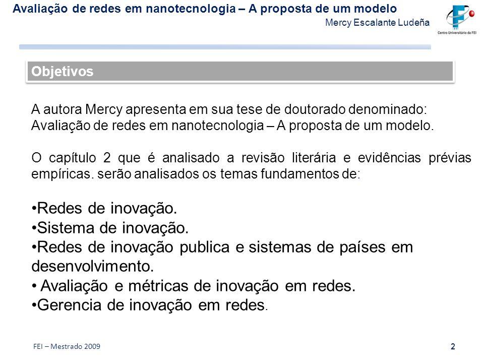 Redes de inovação publica e sistemas de países em desenvolvimento.