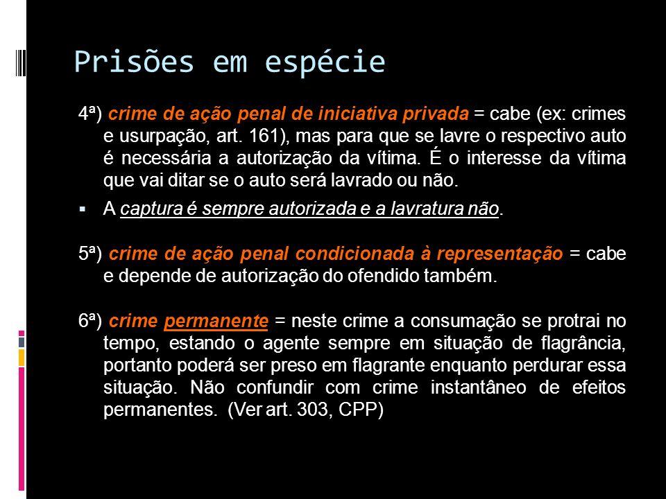 Prisões em espécie
