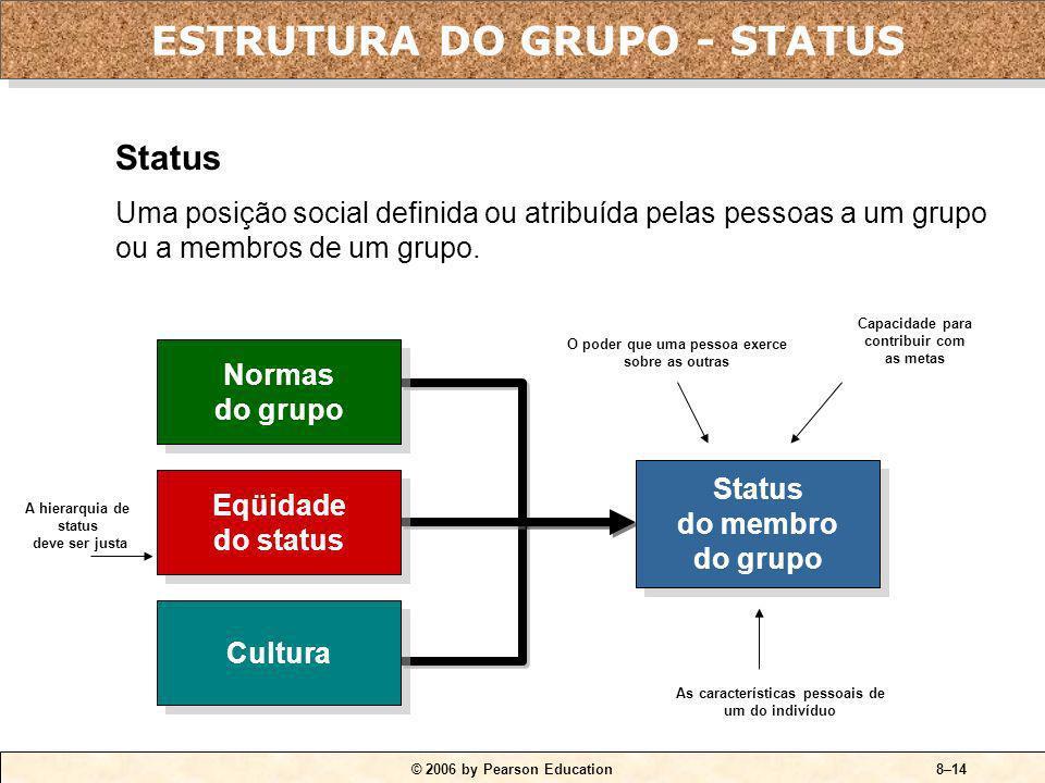 ESTRUTURA DO GRUPO - STATUS