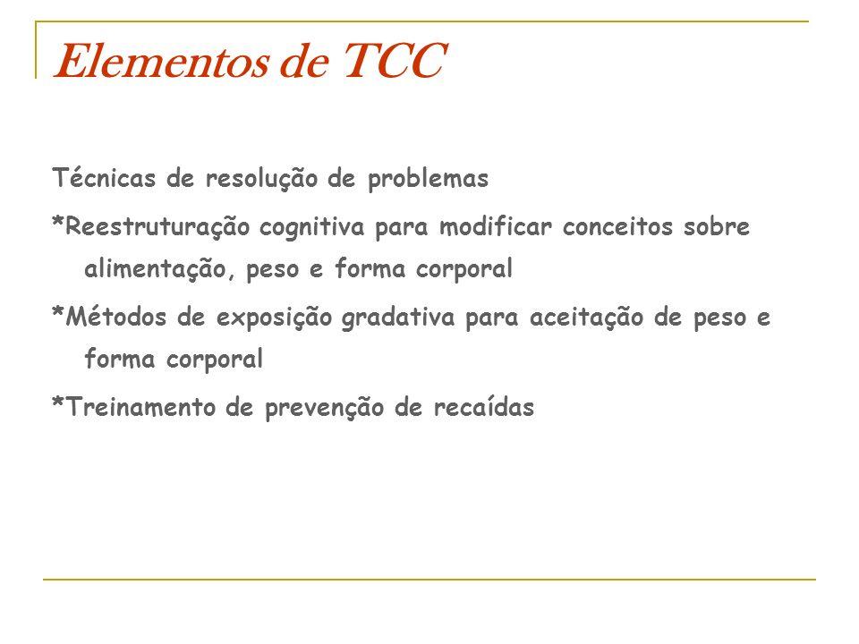 Elementos de TCC Técnicas de resolução de problemas
