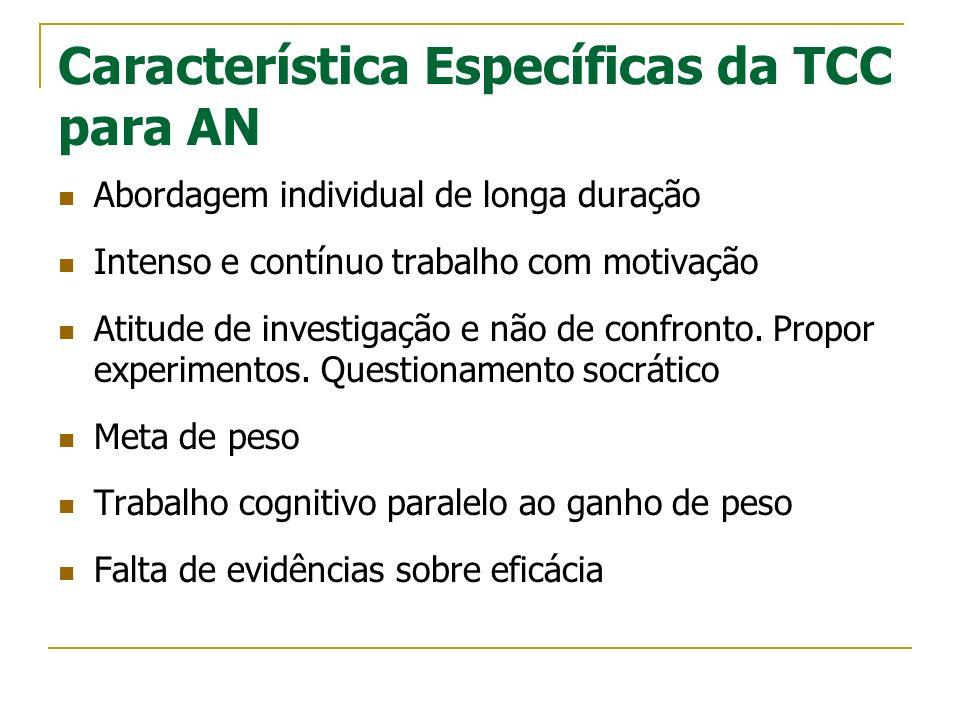 Característica Específicas da TCC para AN
