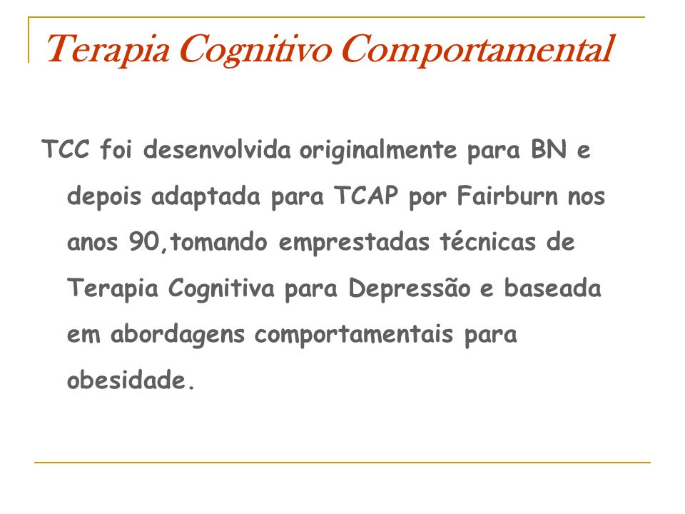 Terapia Cognitivo Comportamental