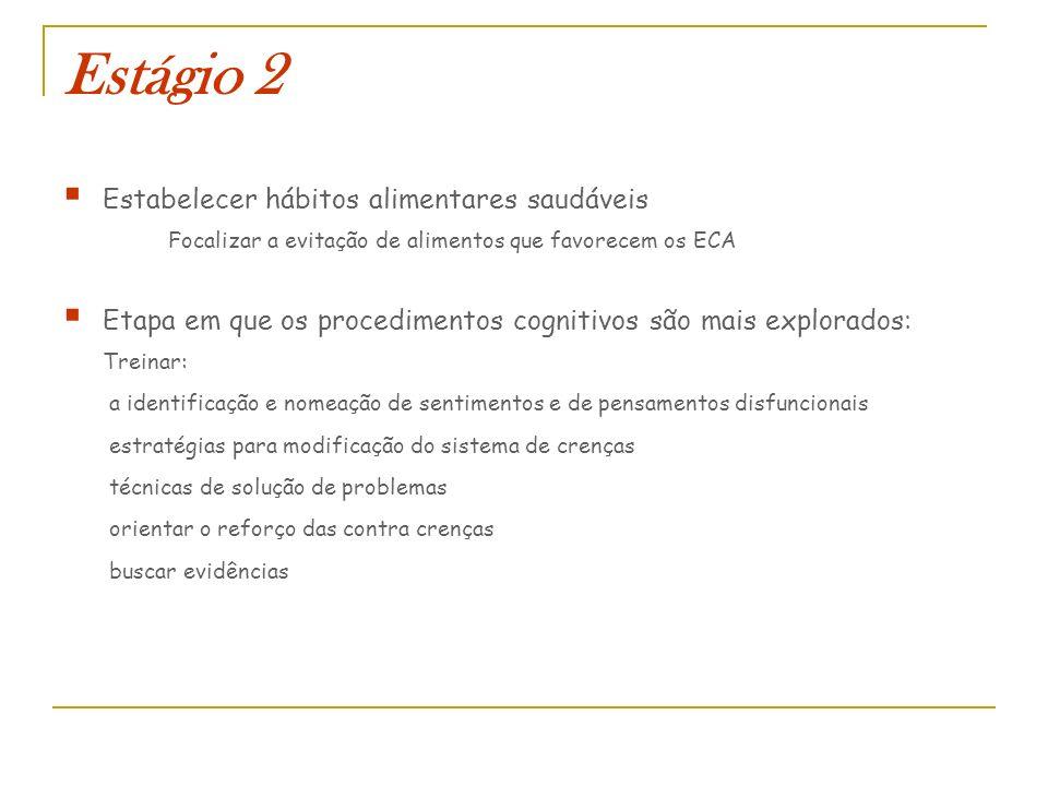 Estágio 2 Estabelecer hábitos alimentares saudáveis