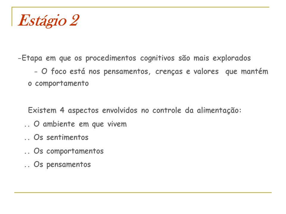 Estágio 2 -Etapa em que os procedimentos cognitivos são mais explorados.