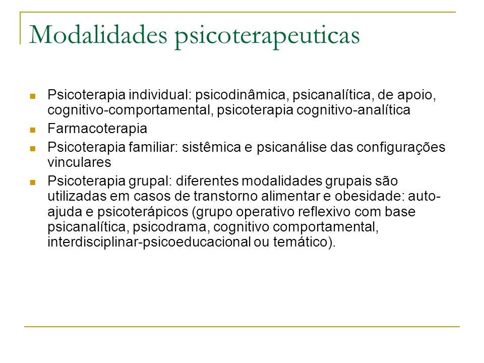 Modalidades psicoterapeuticas