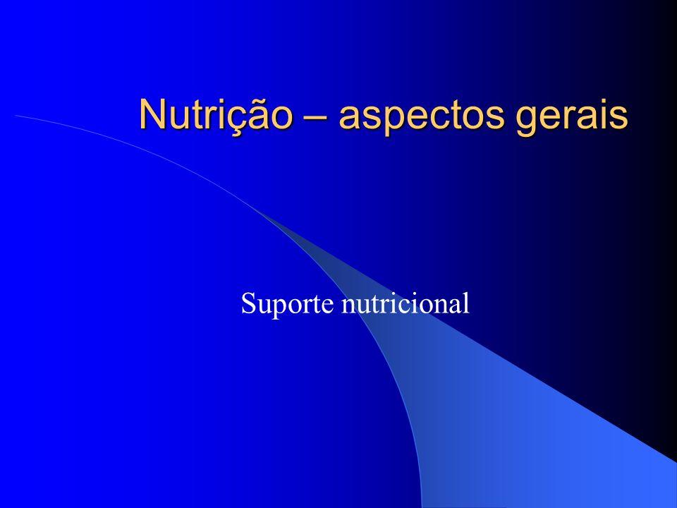 Nutrição – aspectos gerais