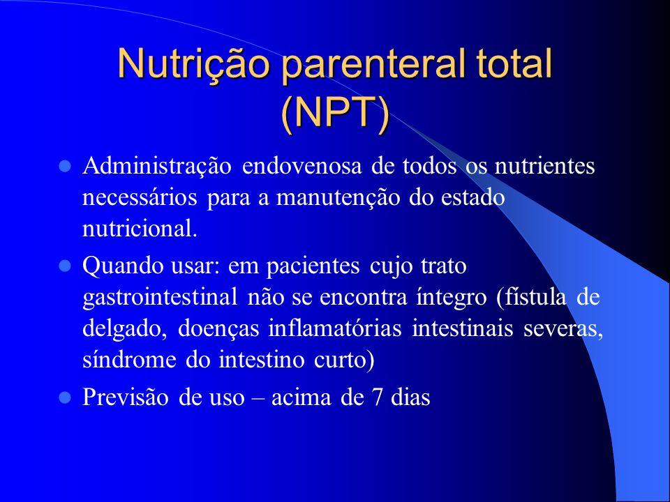 Nutrição parenteral total (NPT)