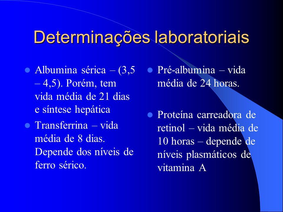 Determinações laboratoriais