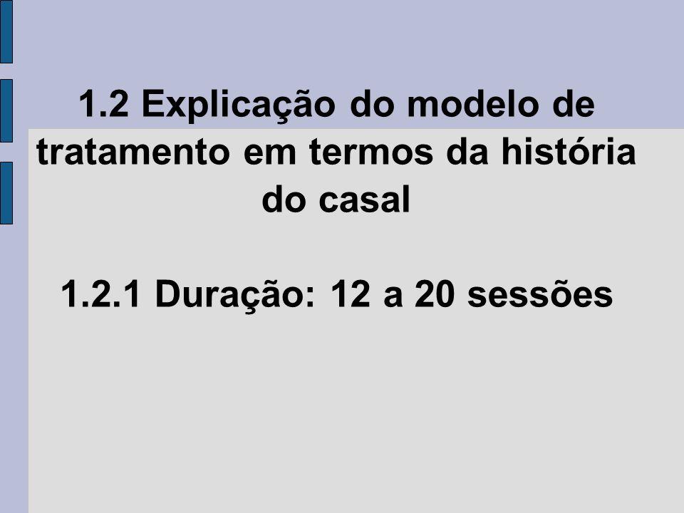 1.2 Explicação do modelo de tratamento em termos da história do casal