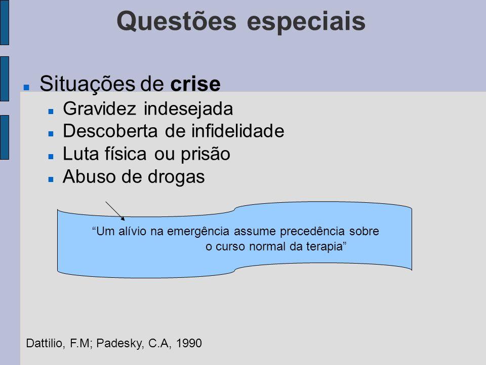 Questões especiais Situações de crise Gravidez indesejada