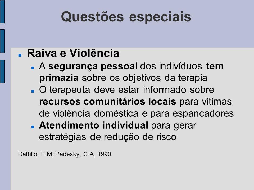 Questões especiais Raiva e Violência