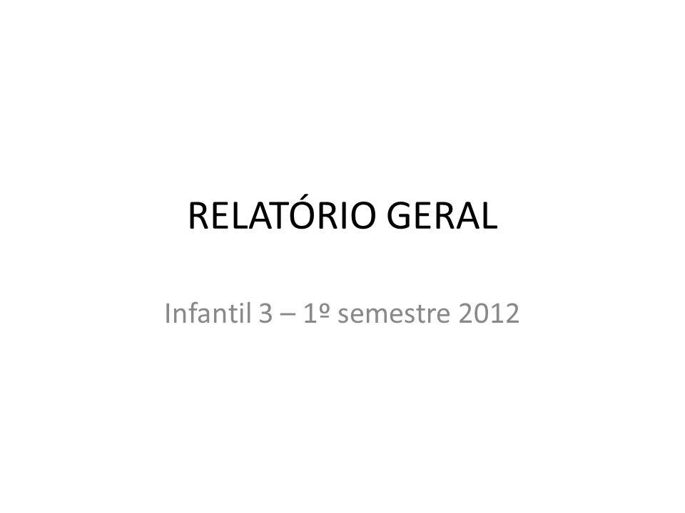 RELATÓRIO GERAL Infantil 3 – 1º semestre 2012