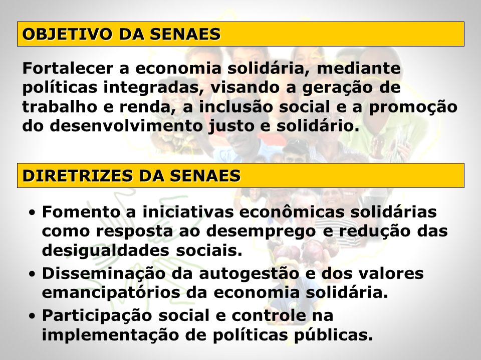 OBJETIVO DA SENAES