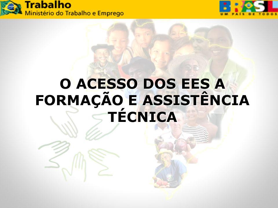 O ACESSO DOS EES A FORMAÇÃO E ASSISTÊNCIA TÉCNICA