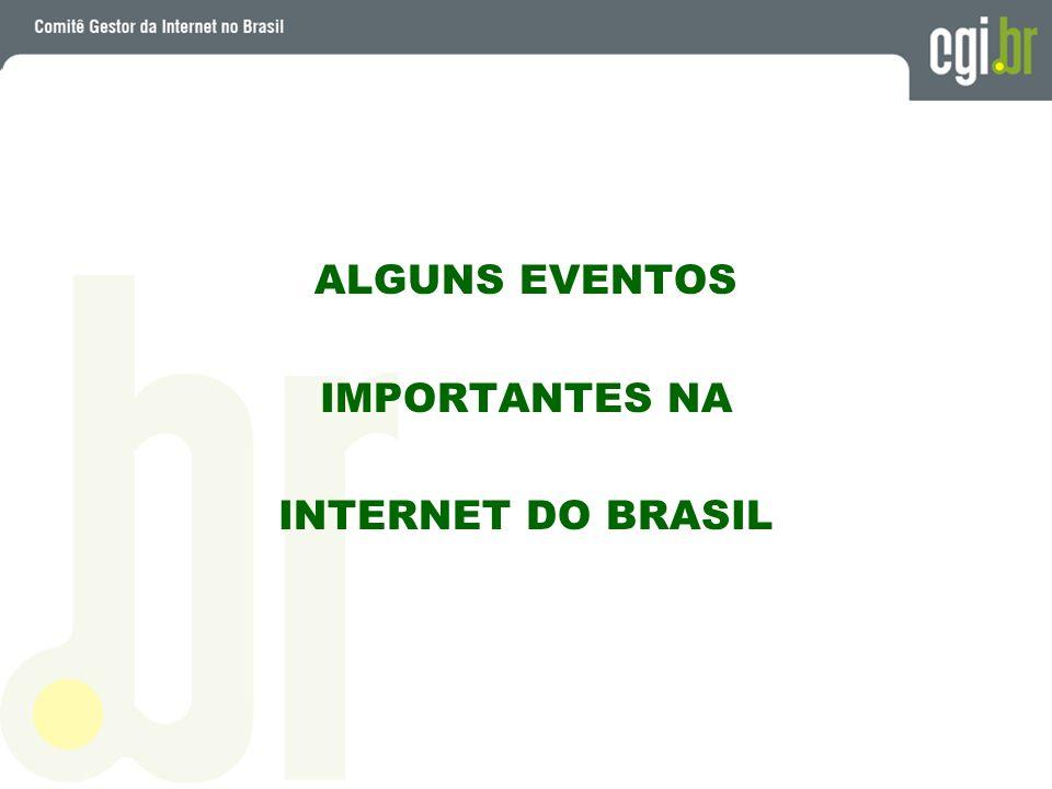 ALGUNS EVENTOS IMPORTANTES NA INTERNET DO BRASIL