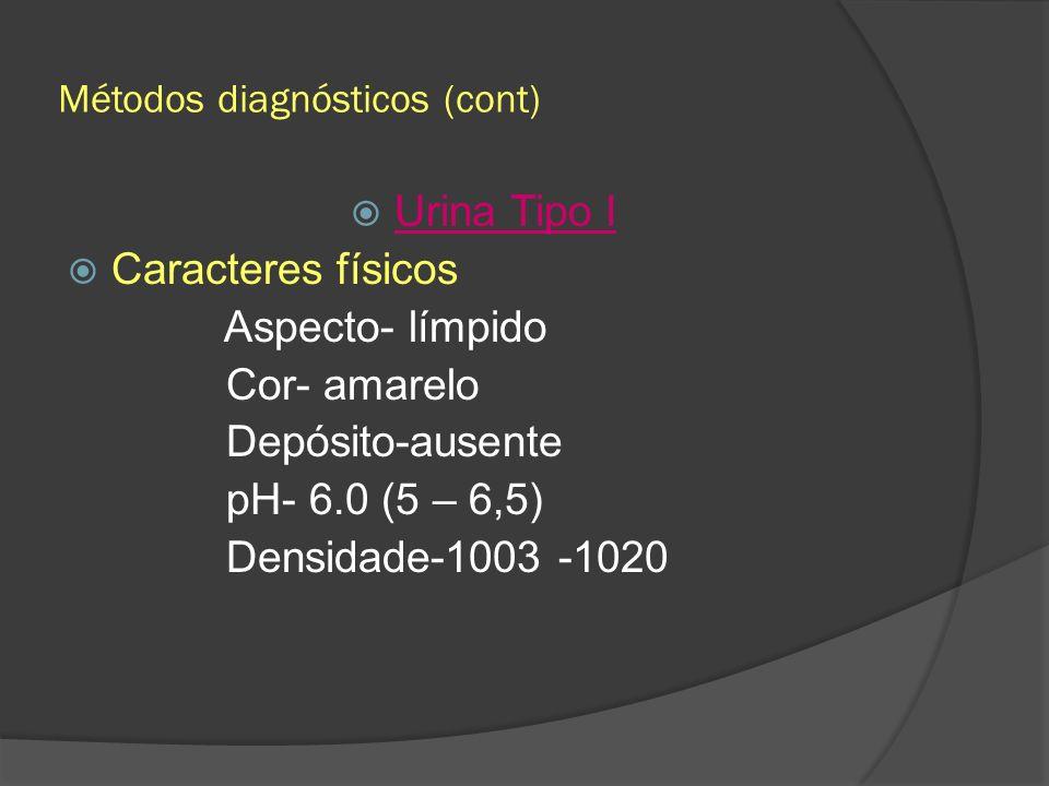 Métodos diagnósticos (cont)