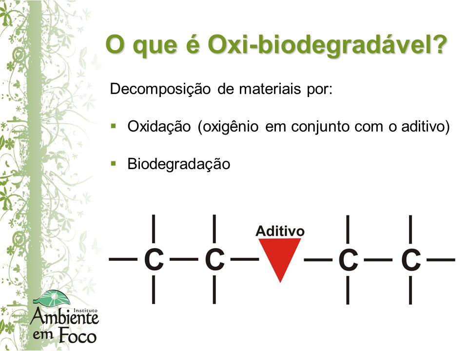 O que é Oxi-biodegradável