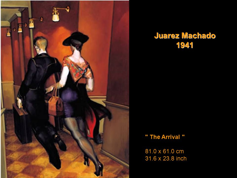 Juarez Machado 1941 The Arrival 81.0 x 61.0 cm 31.6 x 23.8 inch