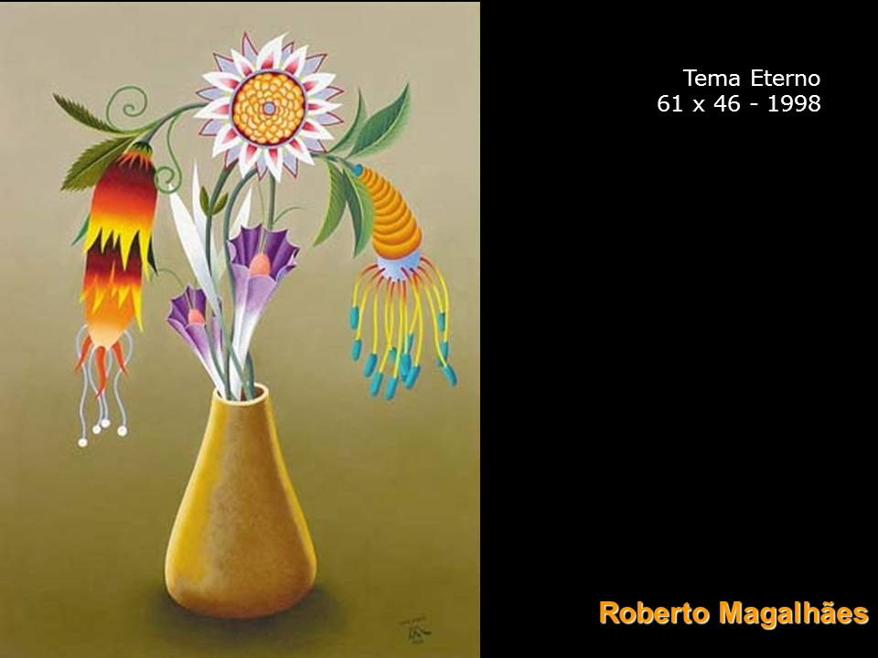 Tema Eterno 61 x 46 - 1998 Roberto Magalhães