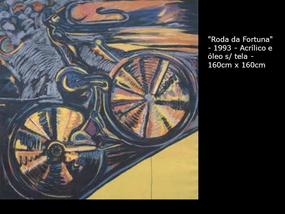 Roda da Fortuna - 1993 - Acrílico e óleo s/ tela - 160cm x 160cm