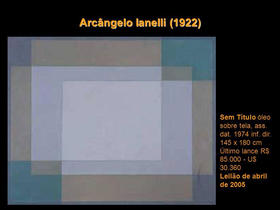 Arcângelo Ianelli (1922) Sem Título óleo sobre tela, ass.