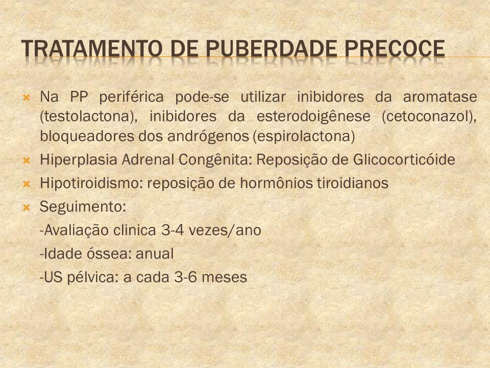 Tratamento de puberdade precoce