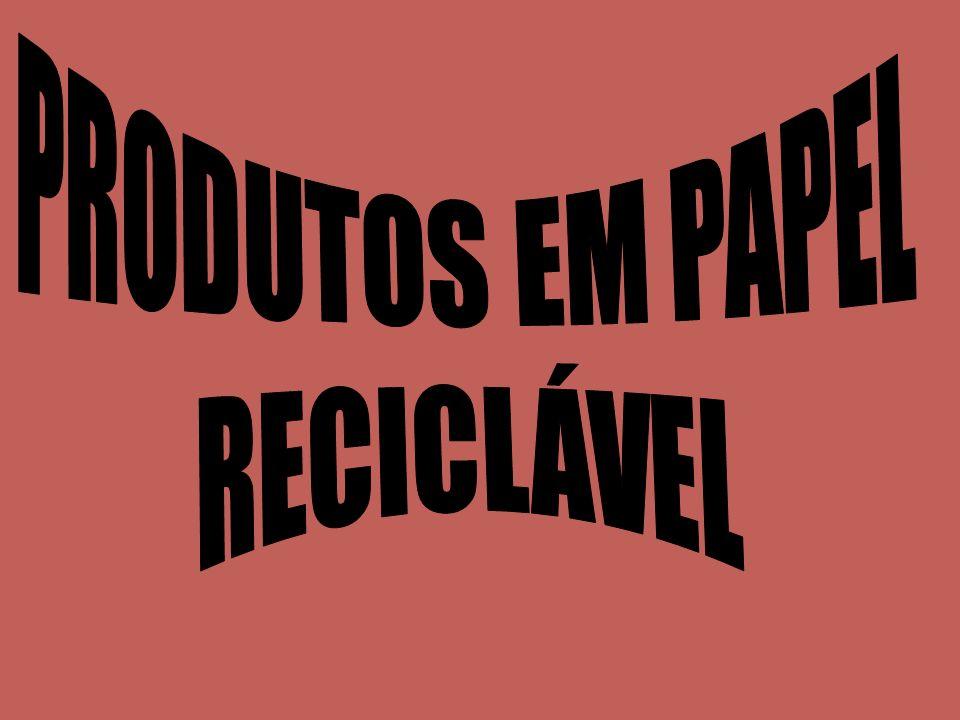 PRODUTOS EM PAPEL RECICLÁVEL