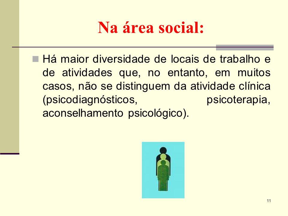 Na área social: