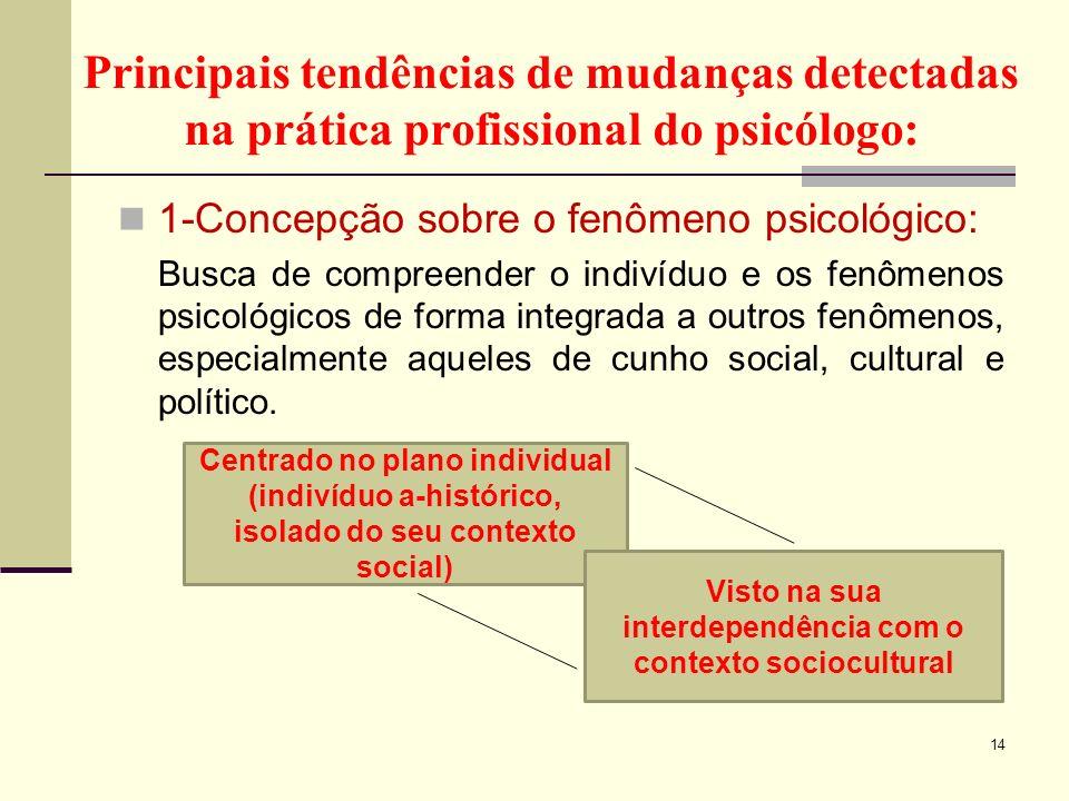 Visto na sua interdependência com o contexto sociocultural