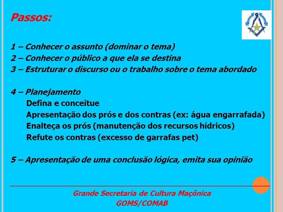 Grande Secretaria de Cultura Maçônica