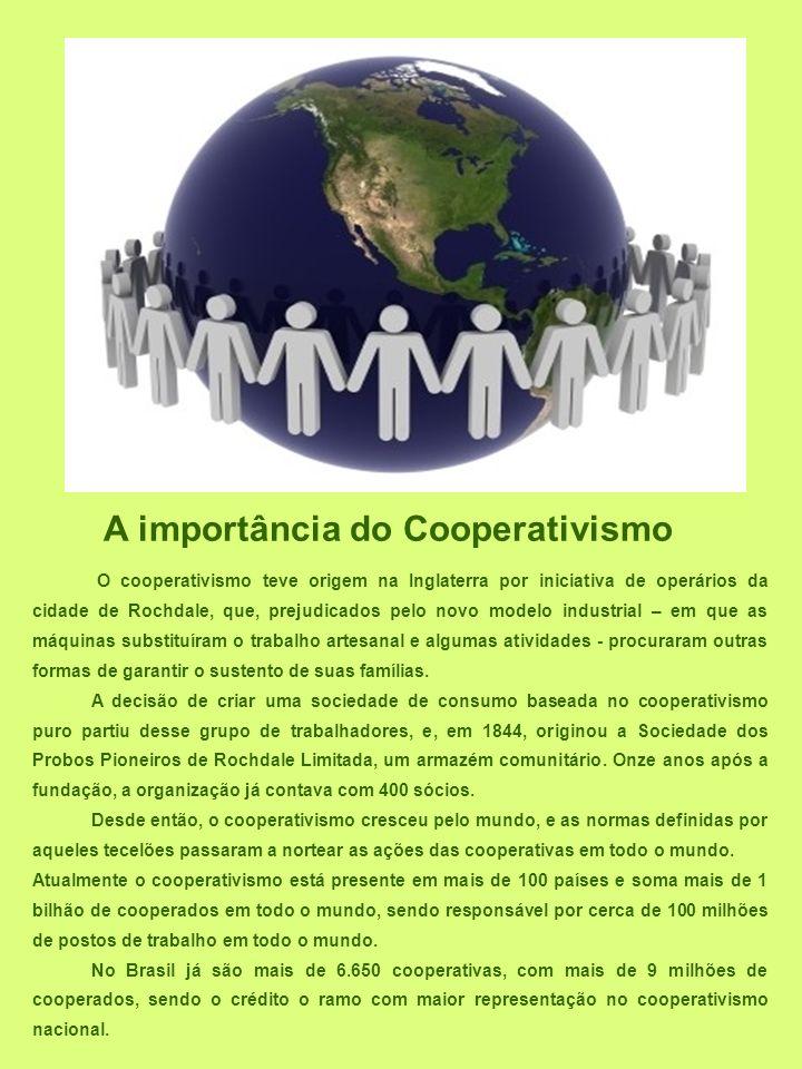A importância do Cooperativismo