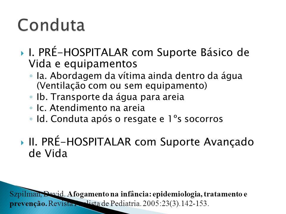 Conduta I. PRÉ-HOSPITALAR com Suporte Básico de Vida e equipamentos
