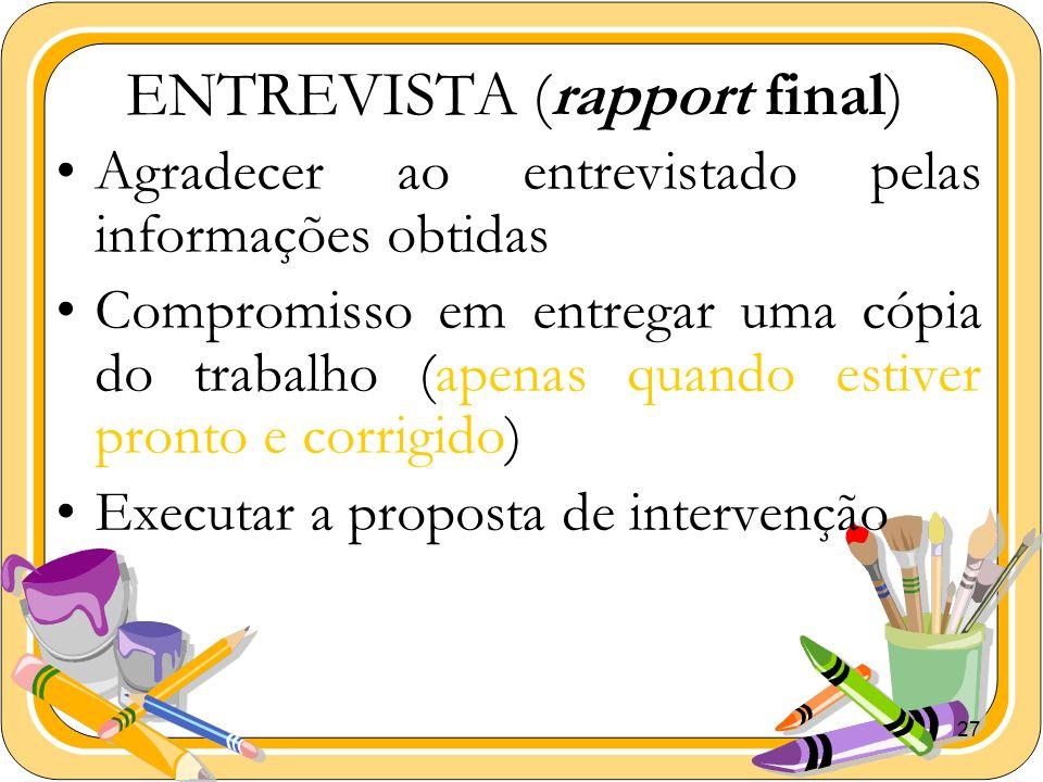 ENTREVISTA (rapport final)