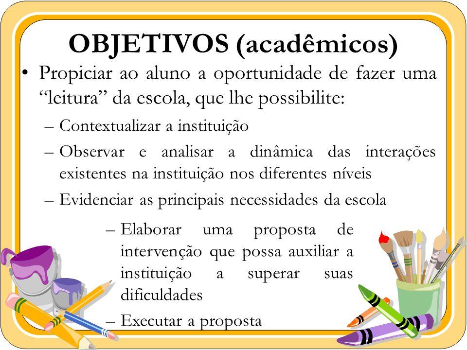 OBJETIVOS (acadêmicos)