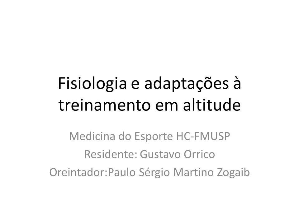 Fisiologia e adaptações à treinamento em altitude
