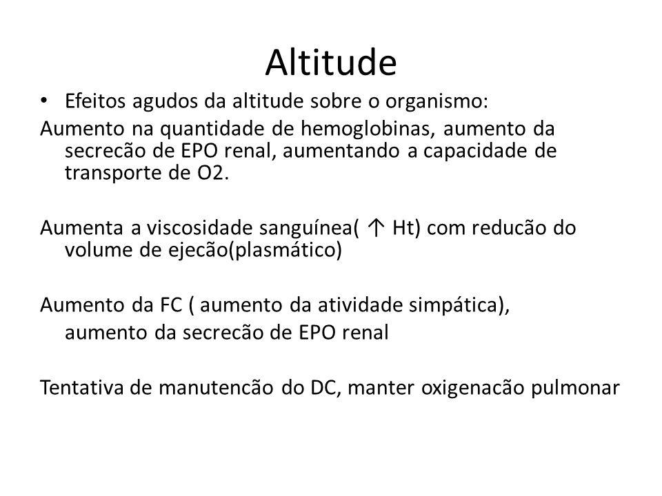 Altitude Efeitos agudos da altitude sobre o organismo: