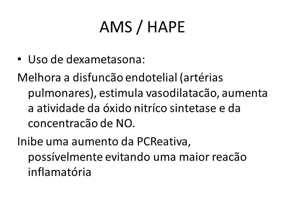 AMS / HAPE Uso de dexametasona: