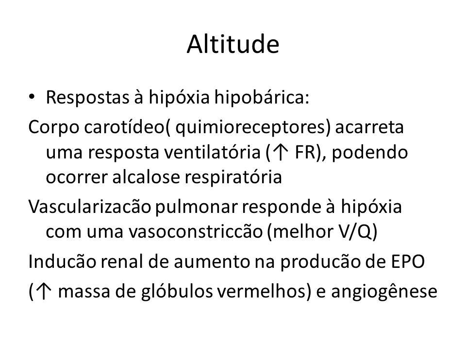 Altitude Respostas à hipóxia hipobárica: