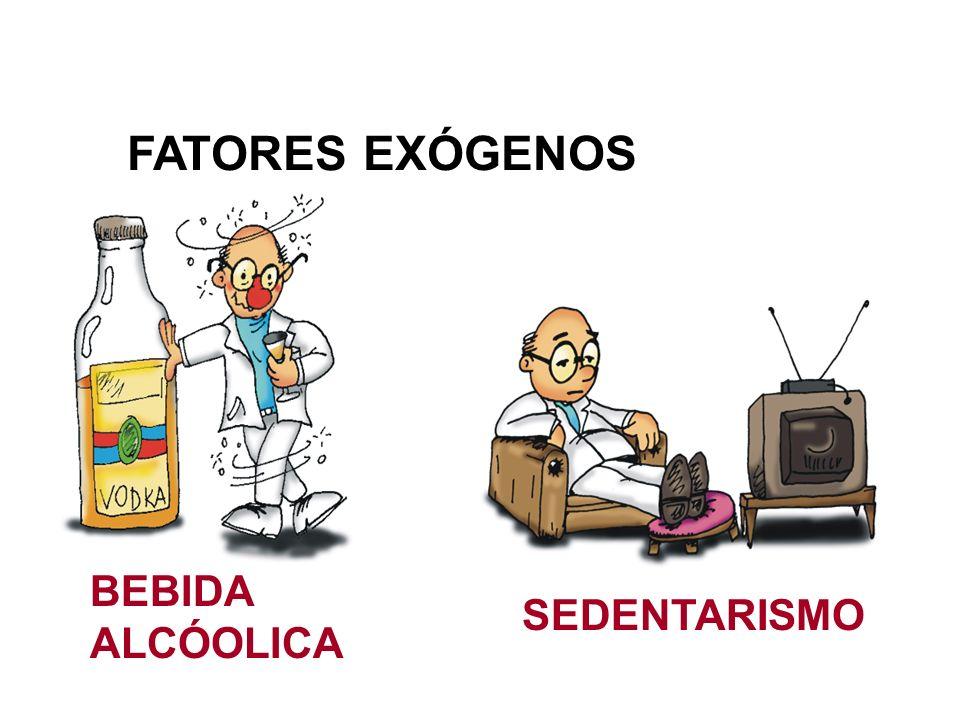 FATORES EXÓGENOS BEBIDA ALCÓOLICA SEDENTARISMO