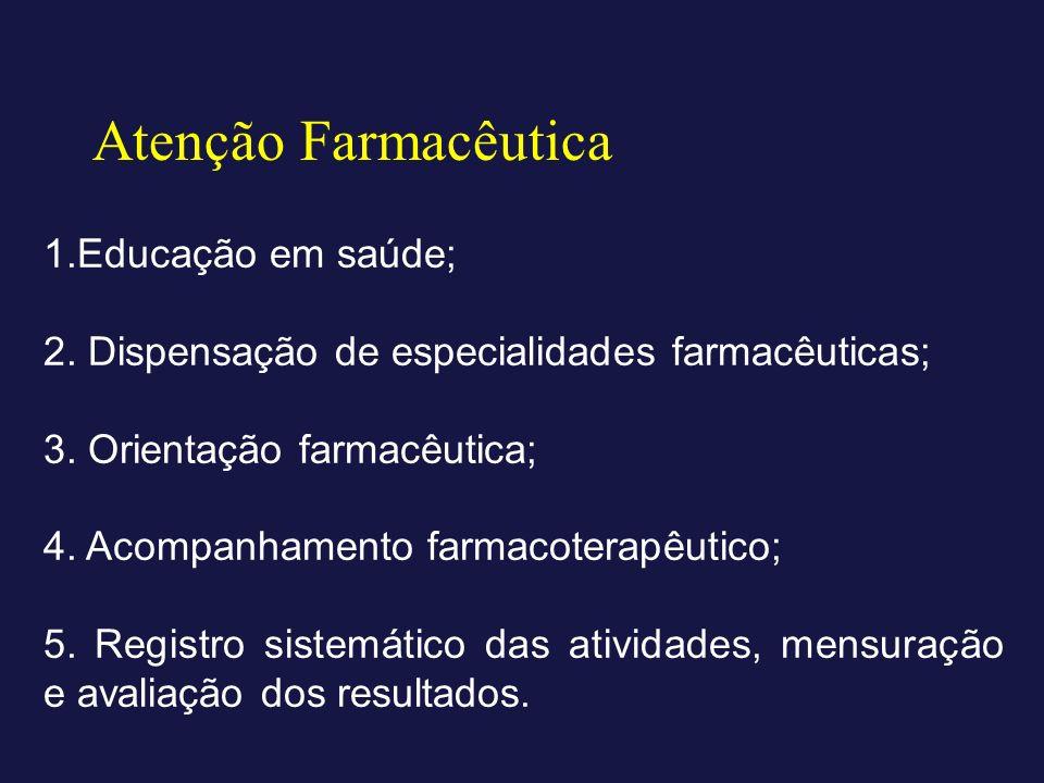 Atenção Farmacêutica 1.Educação em saúde;