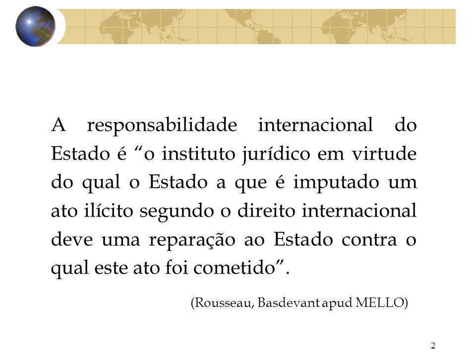 (Rousseau, Basdevant apud MELLO)