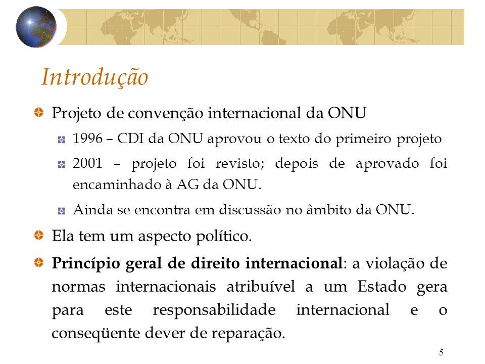 Introdução Projeto de convenção internacional da ONU