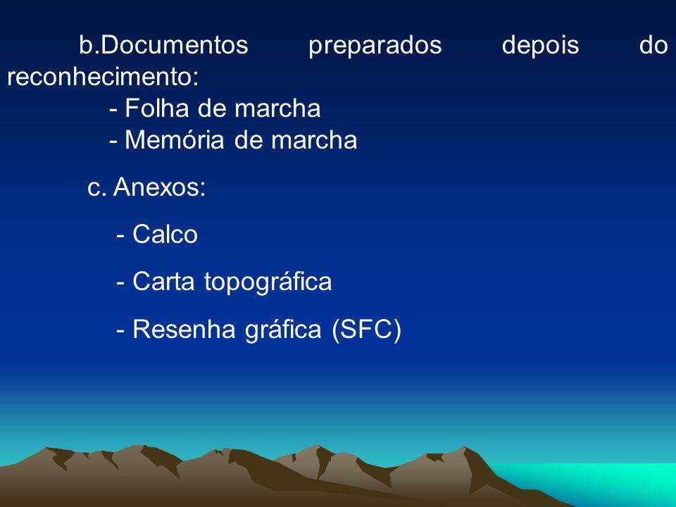 b.Documentos preparados depois do reconhecimento: