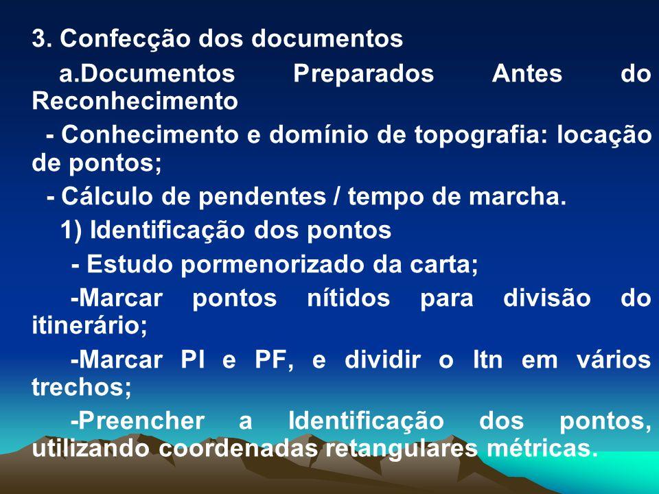 3. Confecção dos documentos