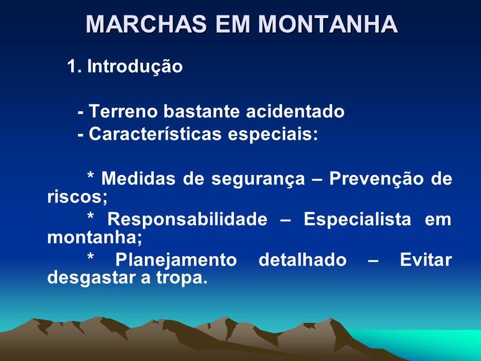 MARCHAS EM MONTANHA - Terreno bastante acidentado