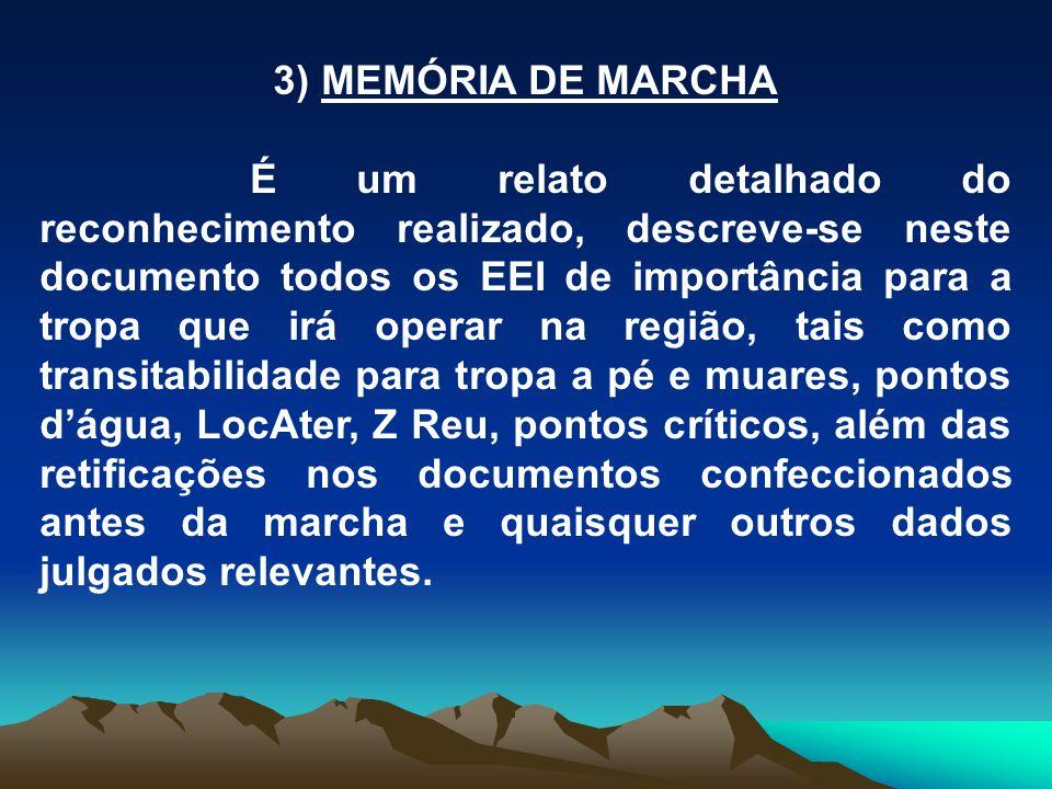 3) MEMÓRIA DE MARCHA