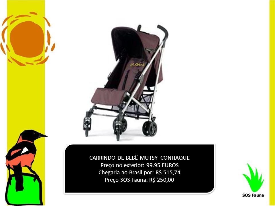 CARRINDO DE BEBÊ MUTSY CONHAQUE Preço no exterior: 99.95 EUROS
